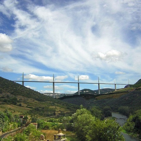 Millau viaduct france open source picture