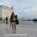 split croatia hrvatska hitchhiking woman solo boulevard guitar