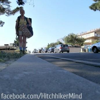 hitchhiking coastal road croatia split makarska dubrovnik solo