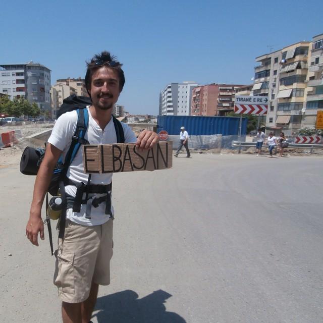 teaming up hitchhiking albania tirana elbasan