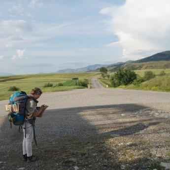 Albania Shqiperia Korca Korcë beautiful road solo female hitchhiking safety