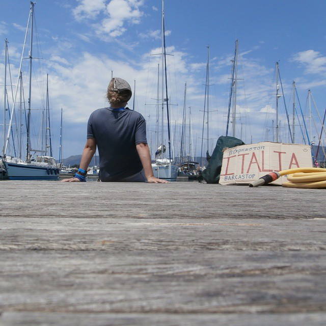 patience hitchhiking frustrations autostop barcastop boathitching greece italy solo woman yachts boat-hitching