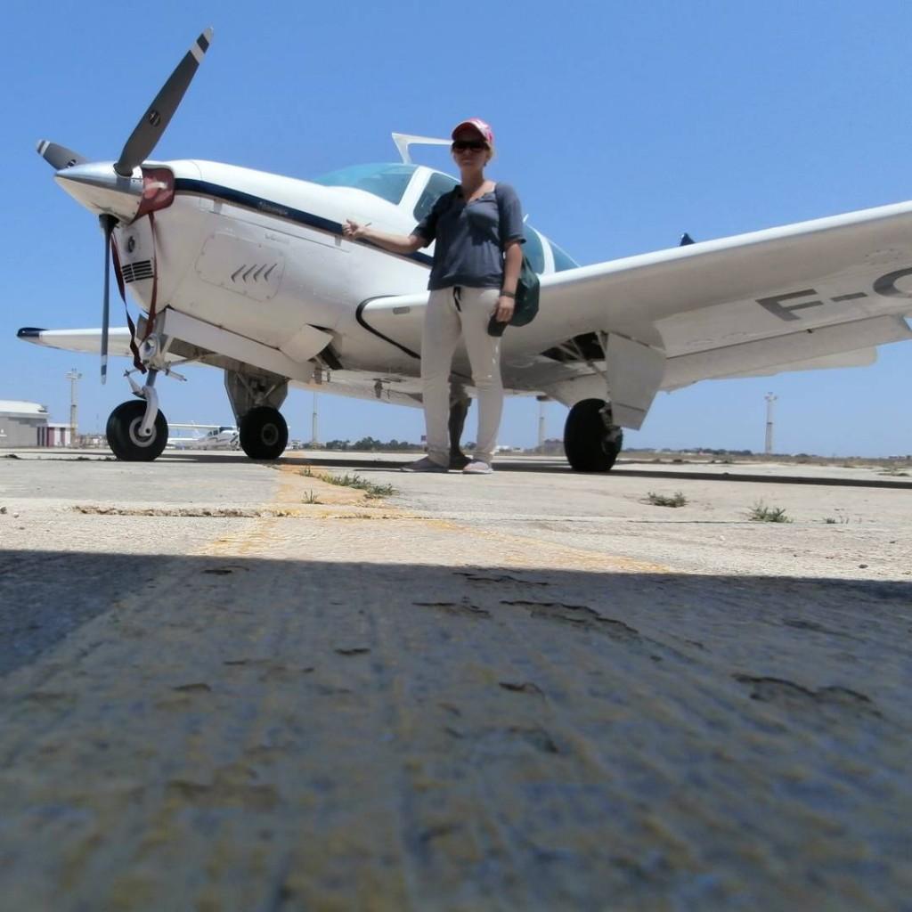 Airplane hitch Malta solo woman hitchhiking airplane aeroplane