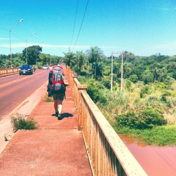 Paraguay, hitchhiking in Salto del Guaíra