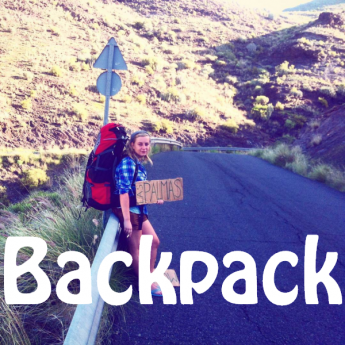 backpack deuter aircontact lite 65 + 10 hitchhiking hiking gran canaria