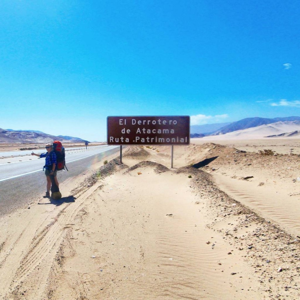 hitchhiking atacama desert chile