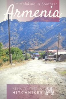 Armenia to Iran hitchhiking pin vayk goris kapan