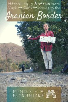 Armenia closer to Iran hitchhiking pin
