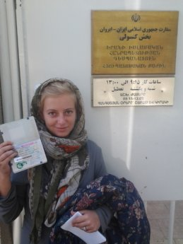 obtaining my iranian visa at the embassy in yerevan armenia october 2014 hitchhiker