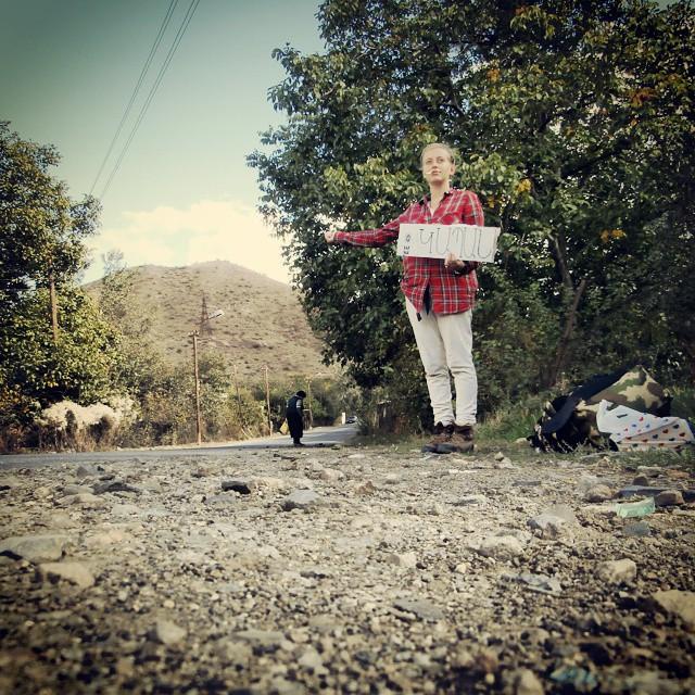 hitchhiking armenia solo female traveler tourism