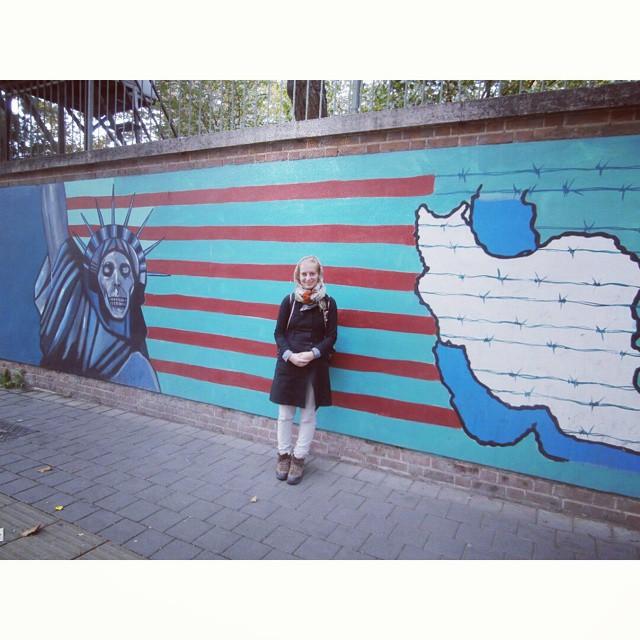 embassy united states of america iran tehran graffiti usa us
