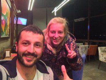 Kerem Gaziantep couchsurfing hitchhiking retracing steps