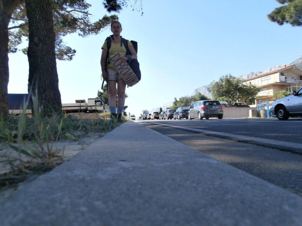 Hitchhiking from Makarska to Dubrovnik and Kupari in Croatia