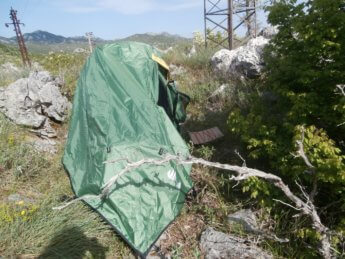 cetinje freecamping solo spot hitchhiking montenegro