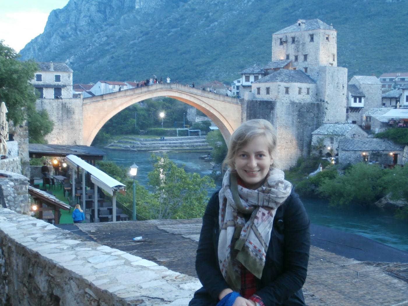 Stari Most Mostar Bosnia and Herzegovina mandatory photo with the old bridge