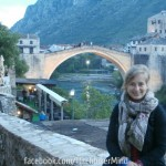 mostar photo bridge mandatory woman hitchhiking bosnia and herzegovina