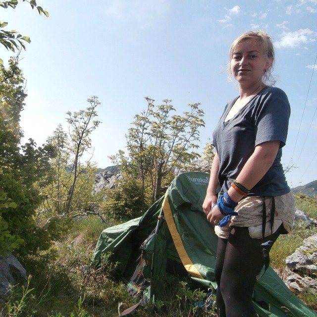 tent inauguration eureka spitfire freecamping wildcamping montenegro crna gora Cetinje