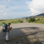 Albania Shqiperia Korca Korcë beautiful road solo female hitchhiking safety