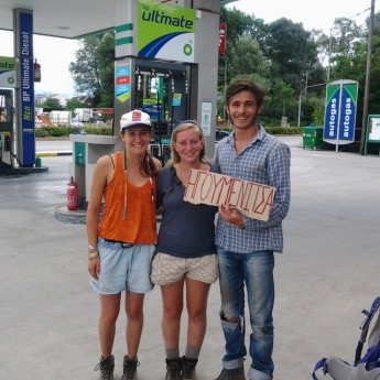 ioannina greece hitchhiking clearly ain't dead greece hellas autostop petrol station solo woman