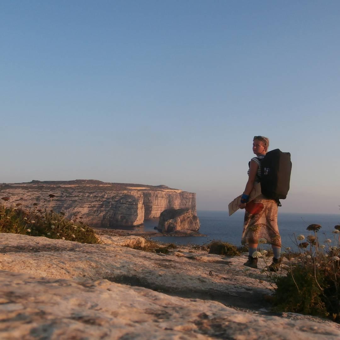azure window rocky freecamping freecamping wildcamping malta illegal sunset gozo hitchhiking