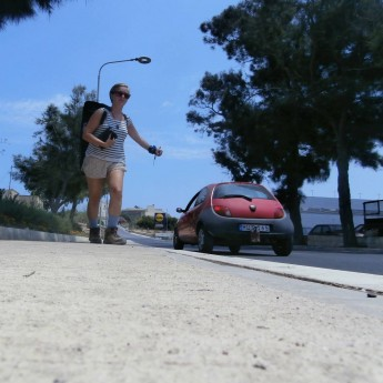 hitchselfie on malta hitchhiking car stops