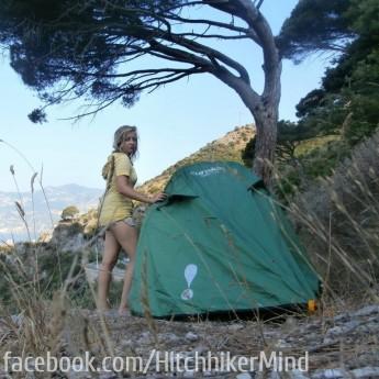 amalfi coast italy hitchhiking freecamping wildcamping