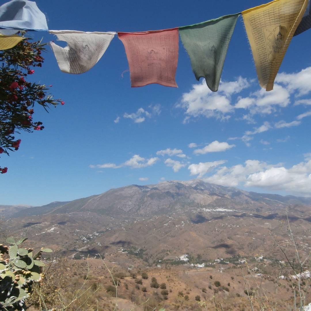 karma guen tibet in spain buddhism stupa hitchhiking solo female travel adventure