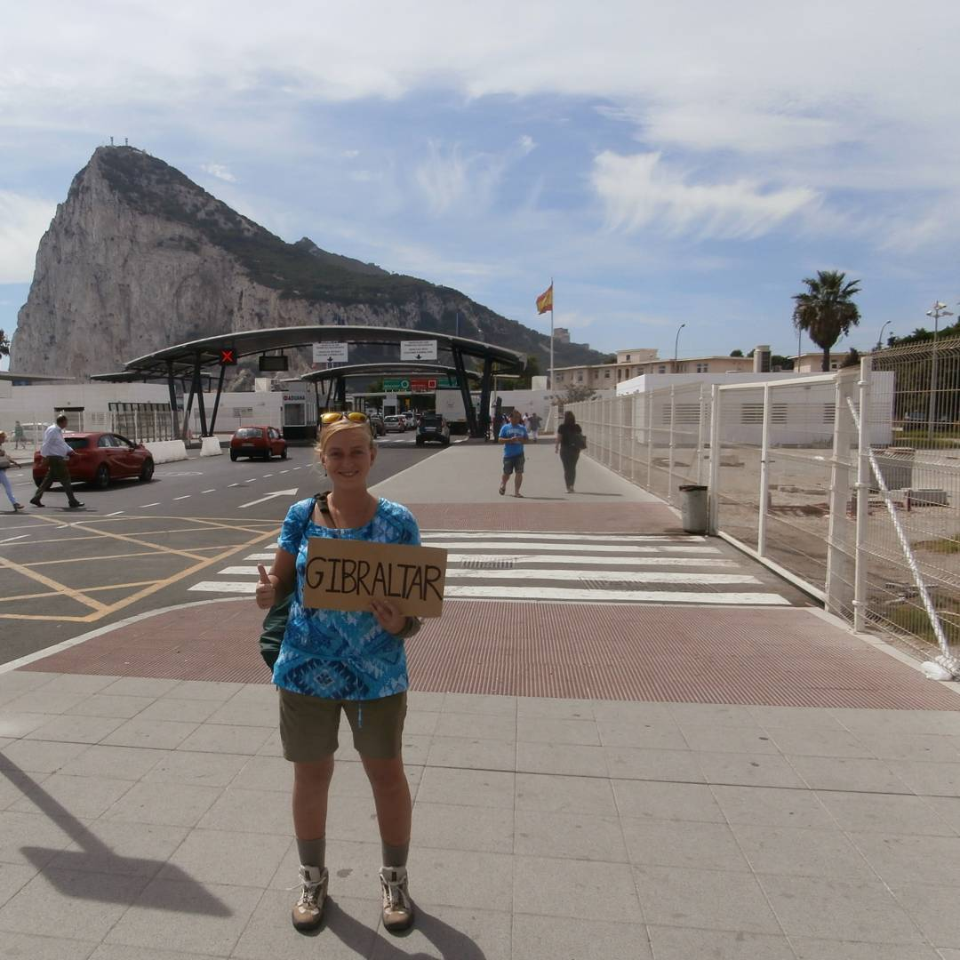 hitchhiking gibraltar solo female travel spain la linea adventure