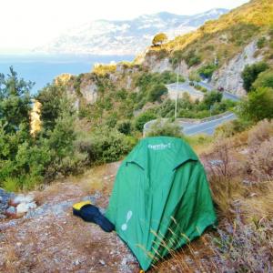 Amalfi coast italy eureka spitfire lightweight tent