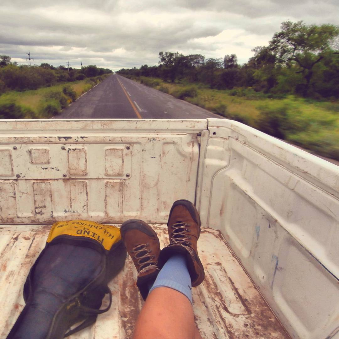 Paraguay from the back of a pick-up truck
