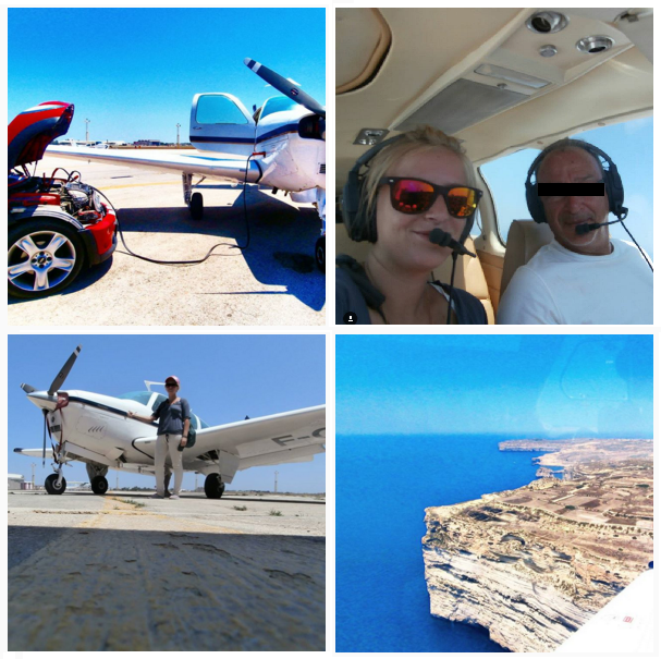 Airplane hitch over Malta private jet hitchhiking