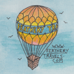 Katie Featherstone Feathery Travels logo publications