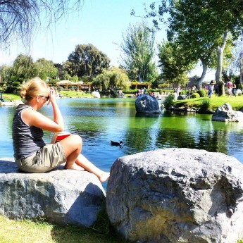 la serena book reading japanese garden hitchhiking chile