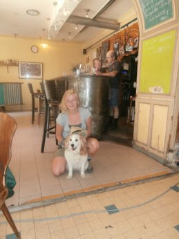 Pet loss Ashley Drome France cafe traveling death mourning