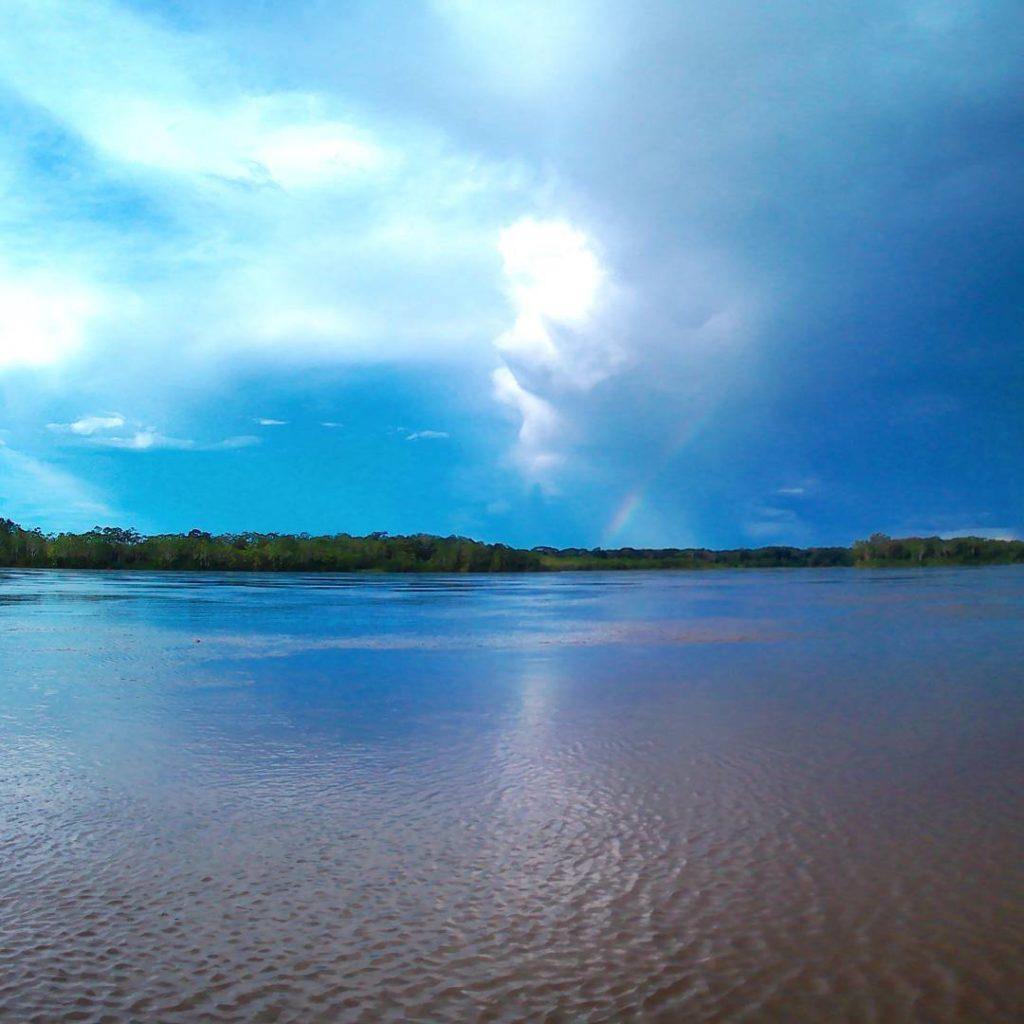 rainbow napo river boat iquitos peru el coca ecuador