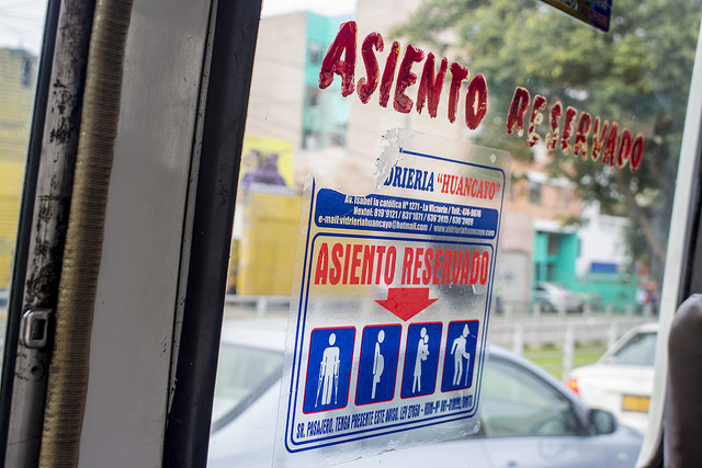 lima city bus system asiento reservado peru