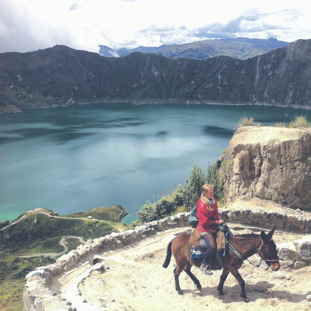quilotoa caldera hike ecuador luis horse riding crater lake