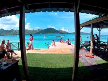 13 Pier Crab Cay Cayo Cangrejo tourism national park McBean Lagoon entry fee
