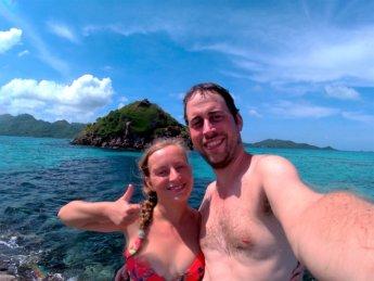 20 selfie Jonas Iris Crab Cay lonesome rock Colombia