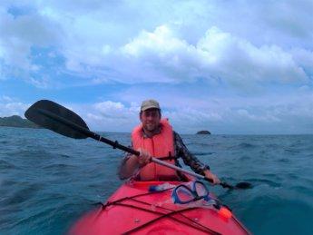 25 Jonas paddling kayaking Caribbean Sea Old Providence San Andrés archipelago