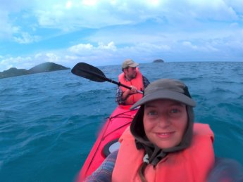 26 Selfie kayaking Colombia Caribbean sea San Andrés and Providencia
