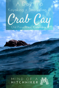 Old Providence Island in the Colombian archipelago of San Andrés is a special slice of paradise. One great day trip is renting a kayak to visit Crab Cay to snorkel at the reef #Providencia #OldProvidence #Colombia #snorkeling #kayaking #kayak #snorkel #SanAndrés #archipelago #Caribbean #CaribbeanSea #oceankayaking #seakayaking #tropicalfish #tropicalisland #CrabCay #island #mardelossietecolores #seaofsevencolors #paddling #SouthAmerica #LatinAmerica