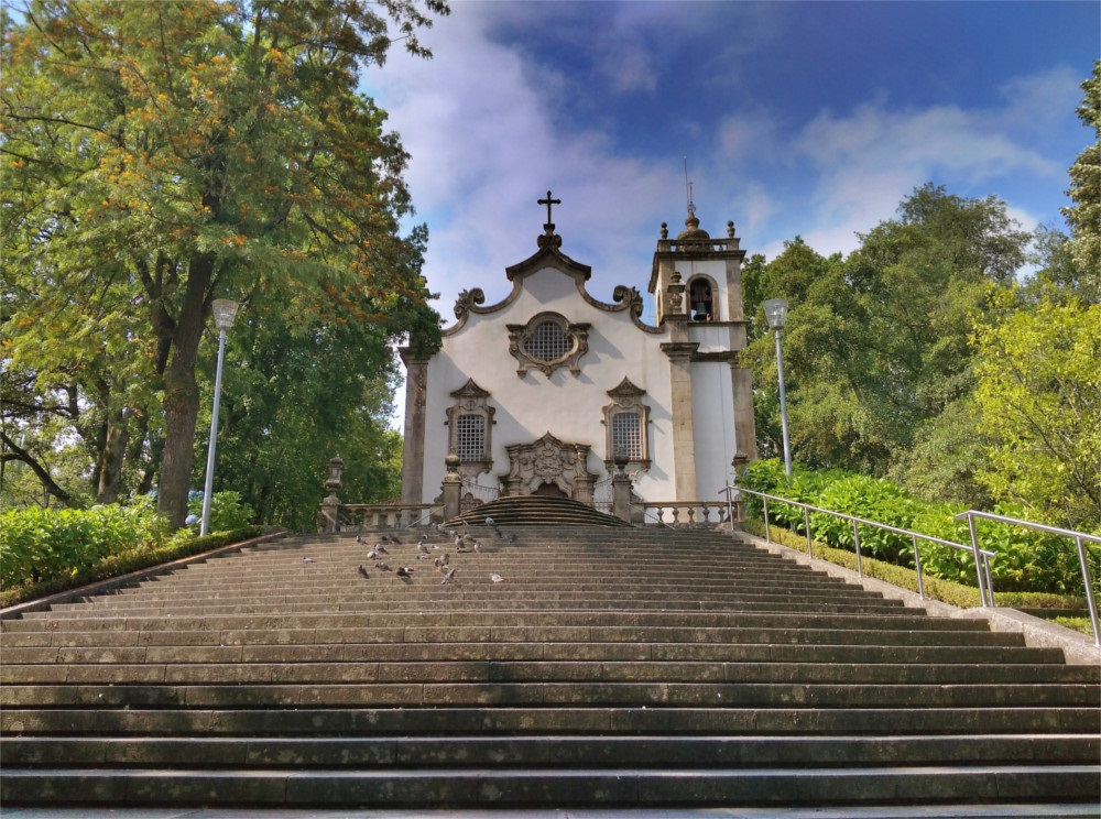 Viseu church hdr hitchhiking Serra da Estrela