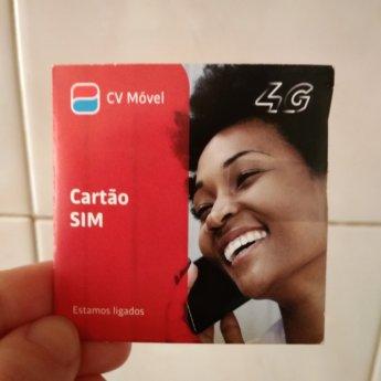 CVTelecom CVMóvel Cartão SIM card in Cabo Verde
