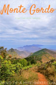 Hiking Monte Gordo pin pinterest São Nicolau Cabo Verde day trip peak mountain