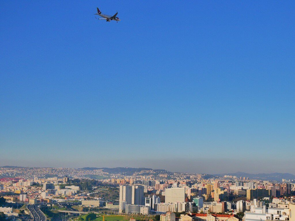 Amoreiras campo de ourique tower airplanespotting