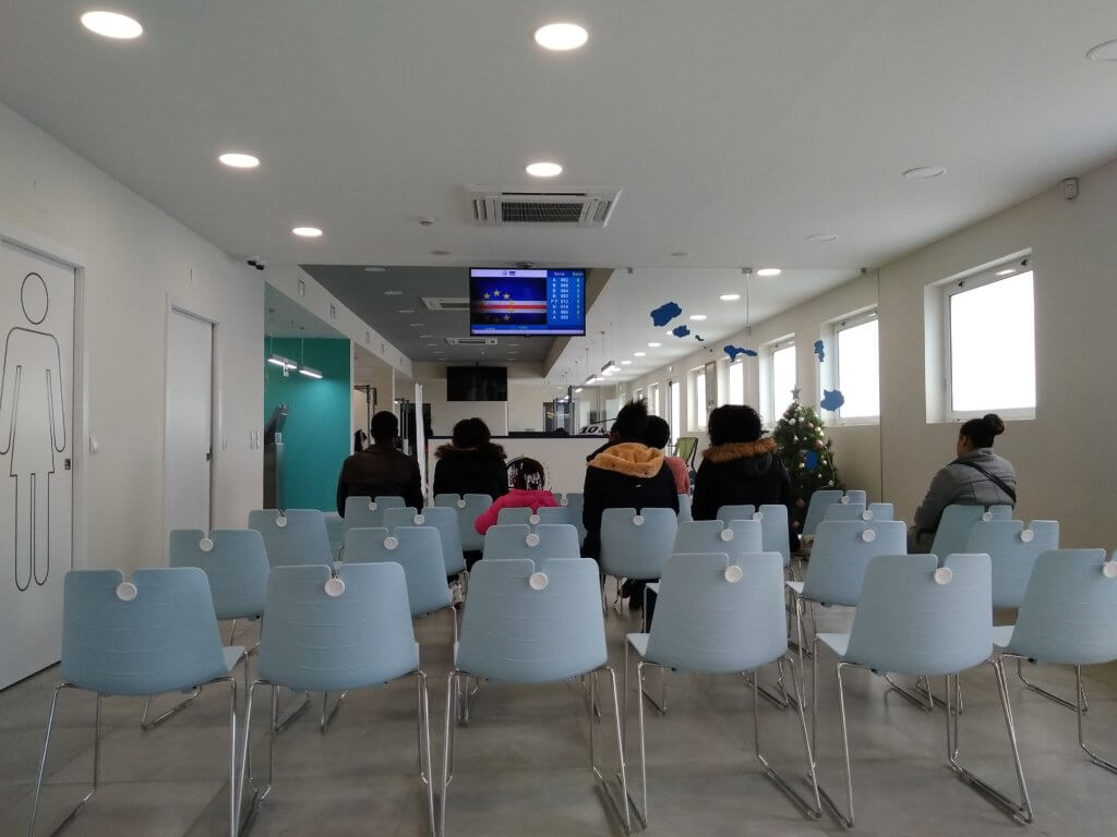 90-day visa cabo verde lisbon portugal waiting room