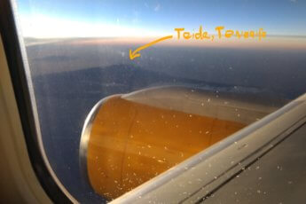 Teide Tenerife Spain flight Cabo Verde