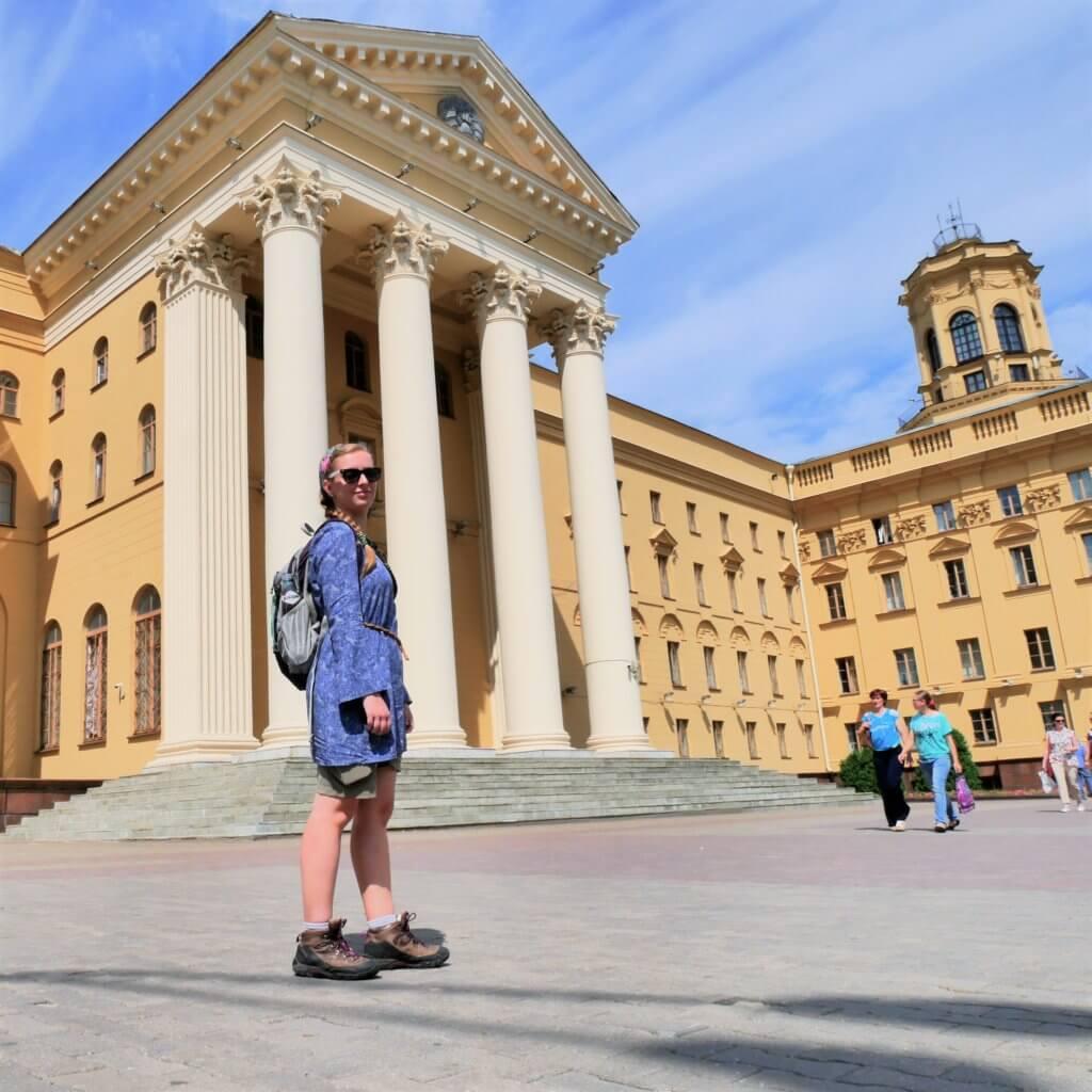 Belarus Minsk KGB building birthday pleasant country visa travel hitchhiking summer