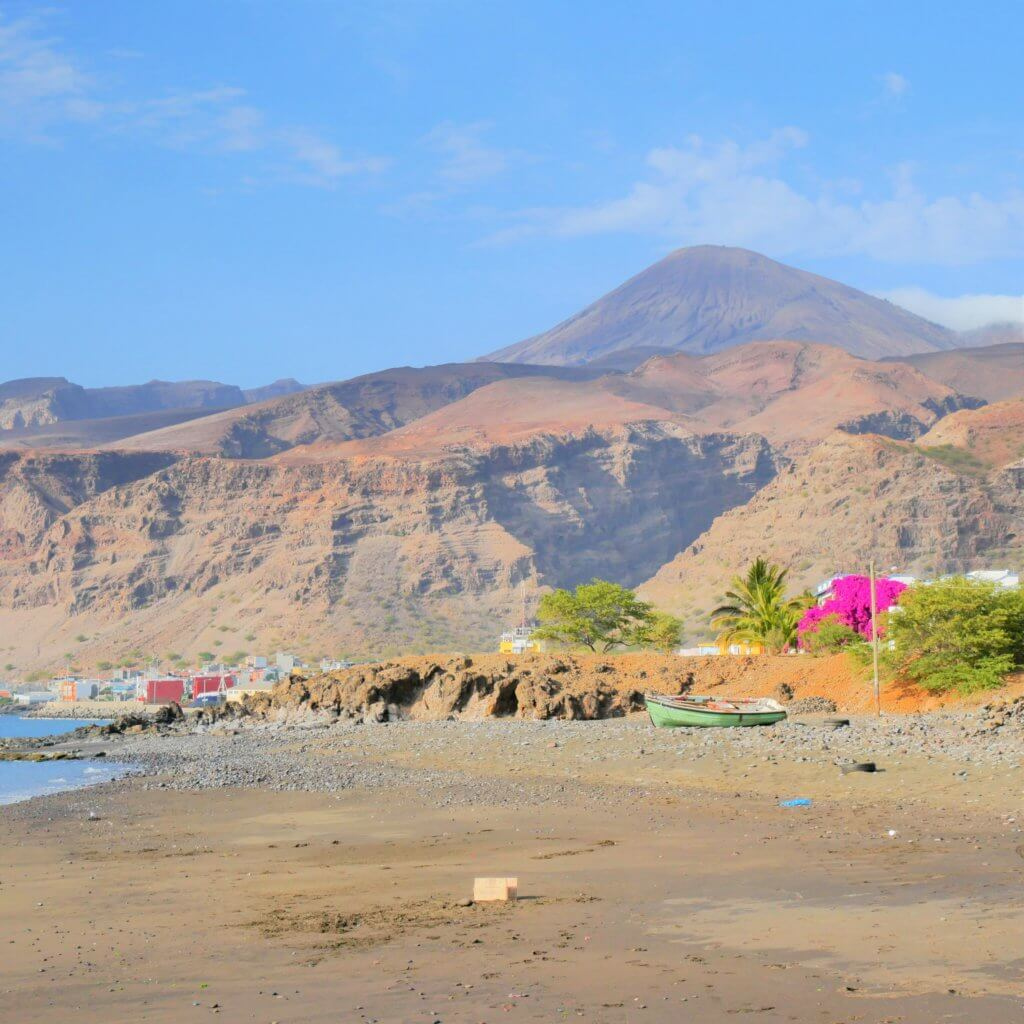 Hiking Monte Gordo São Nicolau Cabo Verde mountain peak trail volcano
